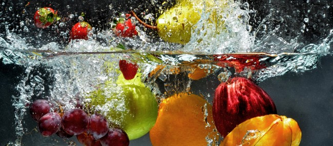 Obst Wasserbad