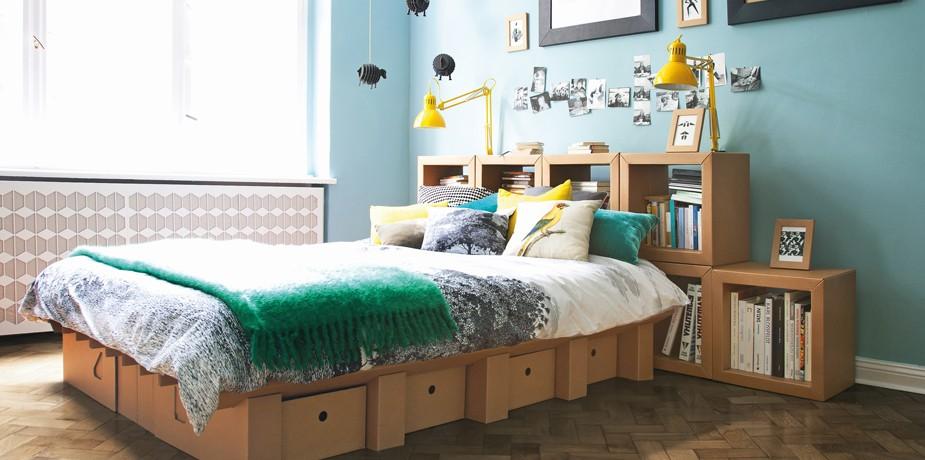 nachhaltige m bel bett aus pappe wenn der postbote das bett liefert codecheck info. Black Bedroom Furniture Sets. Home Design Ideas